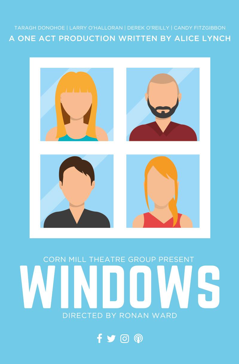 Windows Poster   Corn Mill Theatre Group